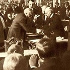 Signing the Versailles Peace Treaty