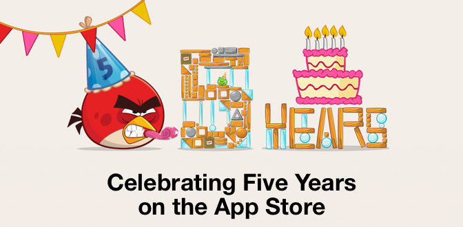 Angry Birds: Celebrating 5 Years on the App Store