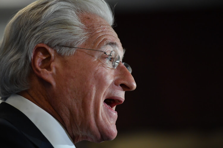 Marc E. Kasowitz, personal attorney for Donald Trump, addresses the media following the testimony of former F.B.I. Director James Comey last month. (Ricky Carioti/The Washington Post)