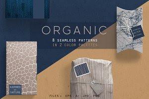 Organic Patterns - 2 color palettes