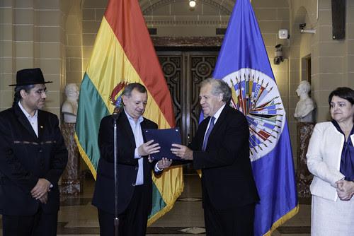 Nuevo Embajador de Bolivia presenta cartas credenciales