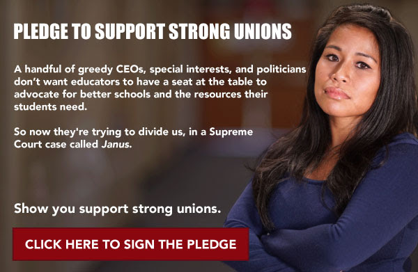 Pledge to                                                           support strong                                                           unions.