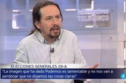 """Pablo Iglesias: """"Solamente si estamos en el Gobierno puede haber una mínima justicia social"""""""