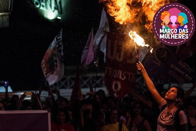 El acto de 2018 tenía como pauta la defensa de la democracia, de la vida de las mujeres y la lucha contra la Reforma de las Pensiones  - Créditos: Bruna Caetano