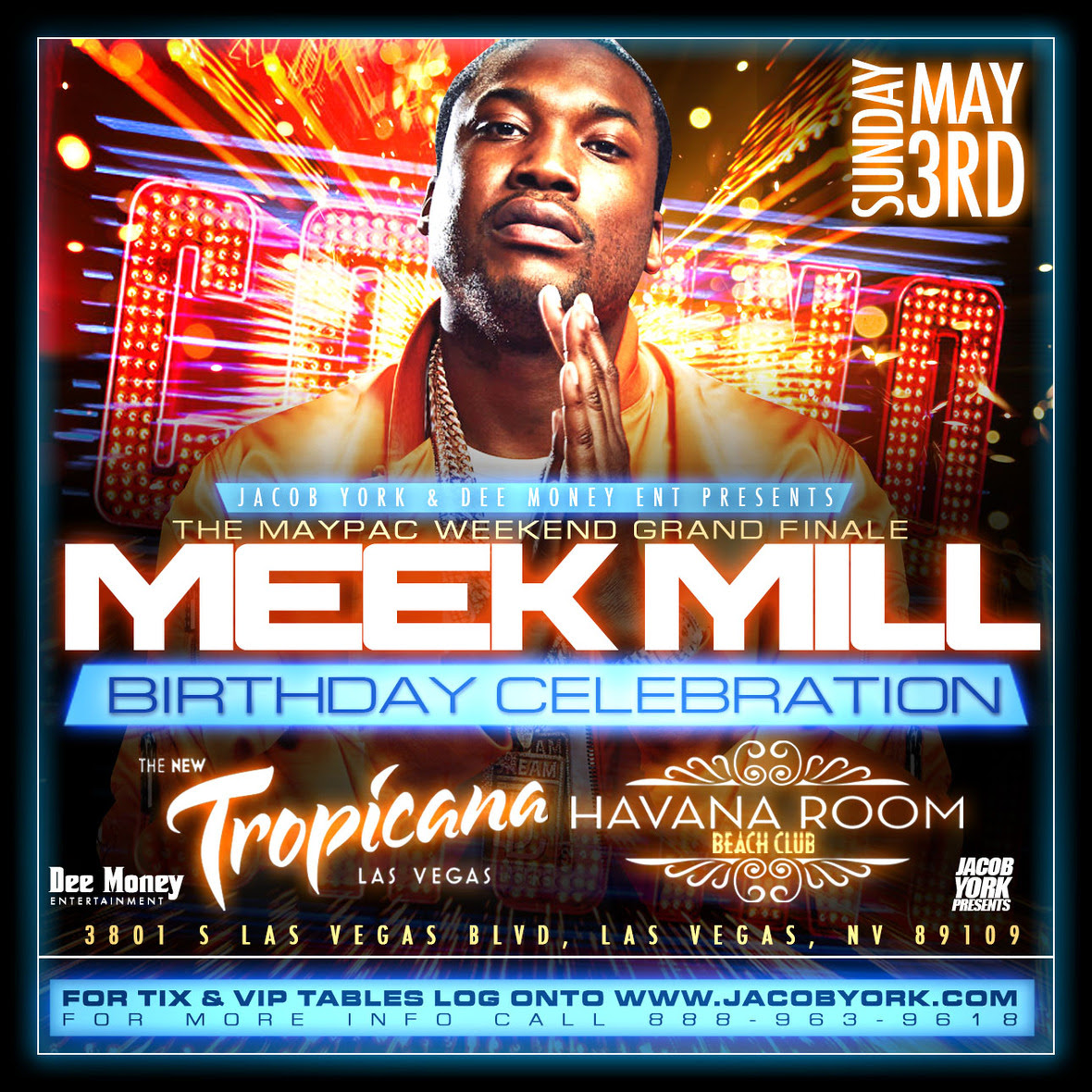 Meek Mills Birthday Celebration, Diddy Fight Afterparty @ Tropicana Las Vegas