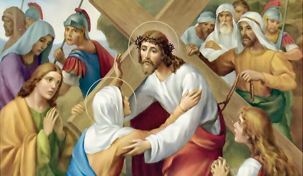 O tempo Quaresmal é propício para a contemplação dos sofrimentos de Jesus Cristo, que se tornam mais frutuosa na presença materna da Virgem Maria.