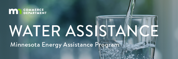 banner for the commerce water assistance program