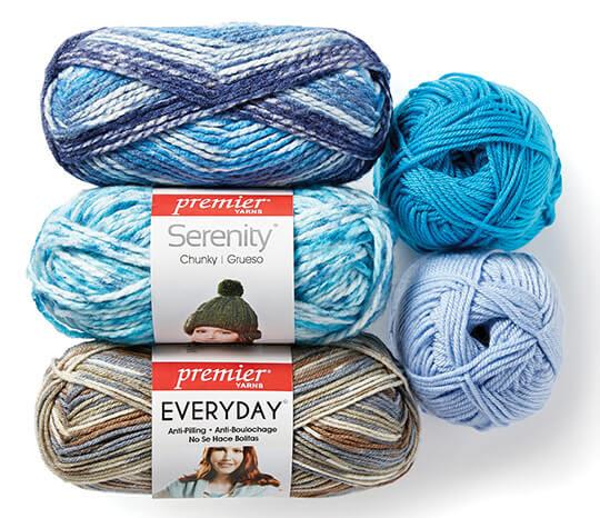 Premier, Everyday and Serenity Yarn.