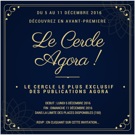 Le Cercle Agora - Invitation