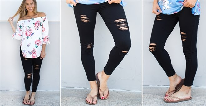 HOT!! Distressed Jeggings!