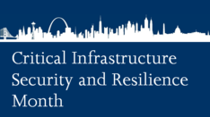 Critical Infrastructure Security and Resilience Month Logo