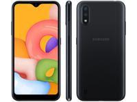 Smartphone Samsung Galaxy A01 32GB Preto Octa-Core