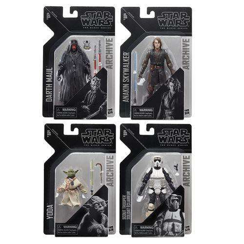 Image of Star Wars The Black Series Archive Action Figures Wave 2 - Complete Set of 4