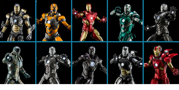 KING ARTS 1/9 SCALE IRON MAN FIGURES
