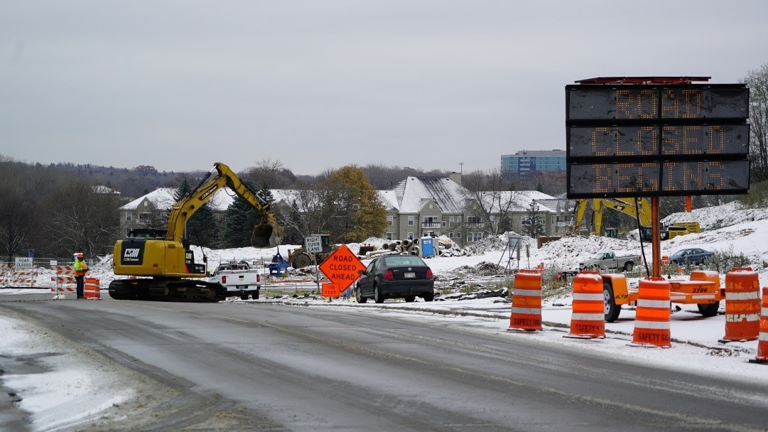 Smetana and Feltl Roadway Progress in Minnetonka