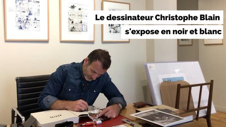 VIDEO - Le dessinateur Christophe Blain s'expose en noir et blanc