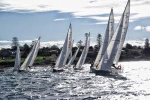 J/24s sailing off Sandringham, Australia