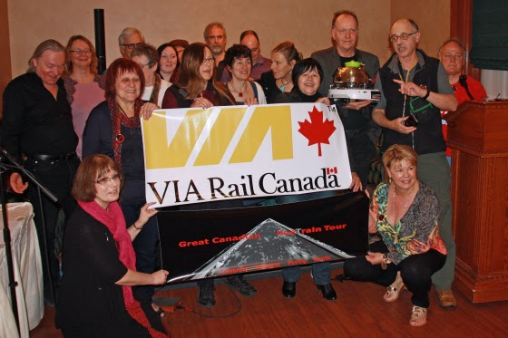Participants in the Great Canadian PoeTrain Tour 2015 Supplied Photo