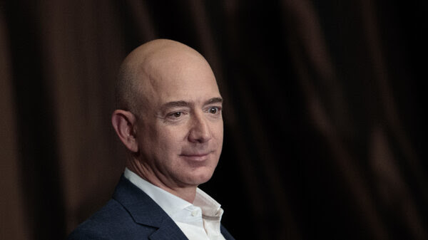 Jeff Bezos, chairman and founder of Amazon.com and owner of The Washington Post, addresses the Economic Club of New York in 2016.