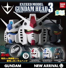 Gundam Exceed Model Gundam Head Vol. 3 Random Figure