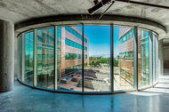 Transparency's the thing. Lassonde Studios, a live/learn building opening this month at the University of Utah, features glass-walled spaces on each residential floor.