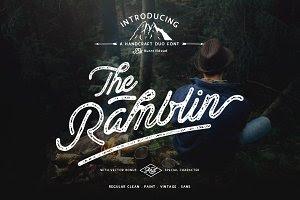 Ramblin Font Duo - 3 Styles