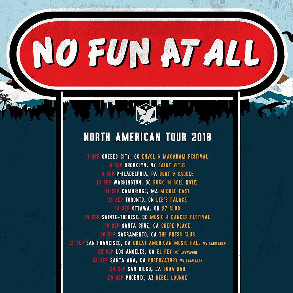 no fun at all north american tour fall 2018