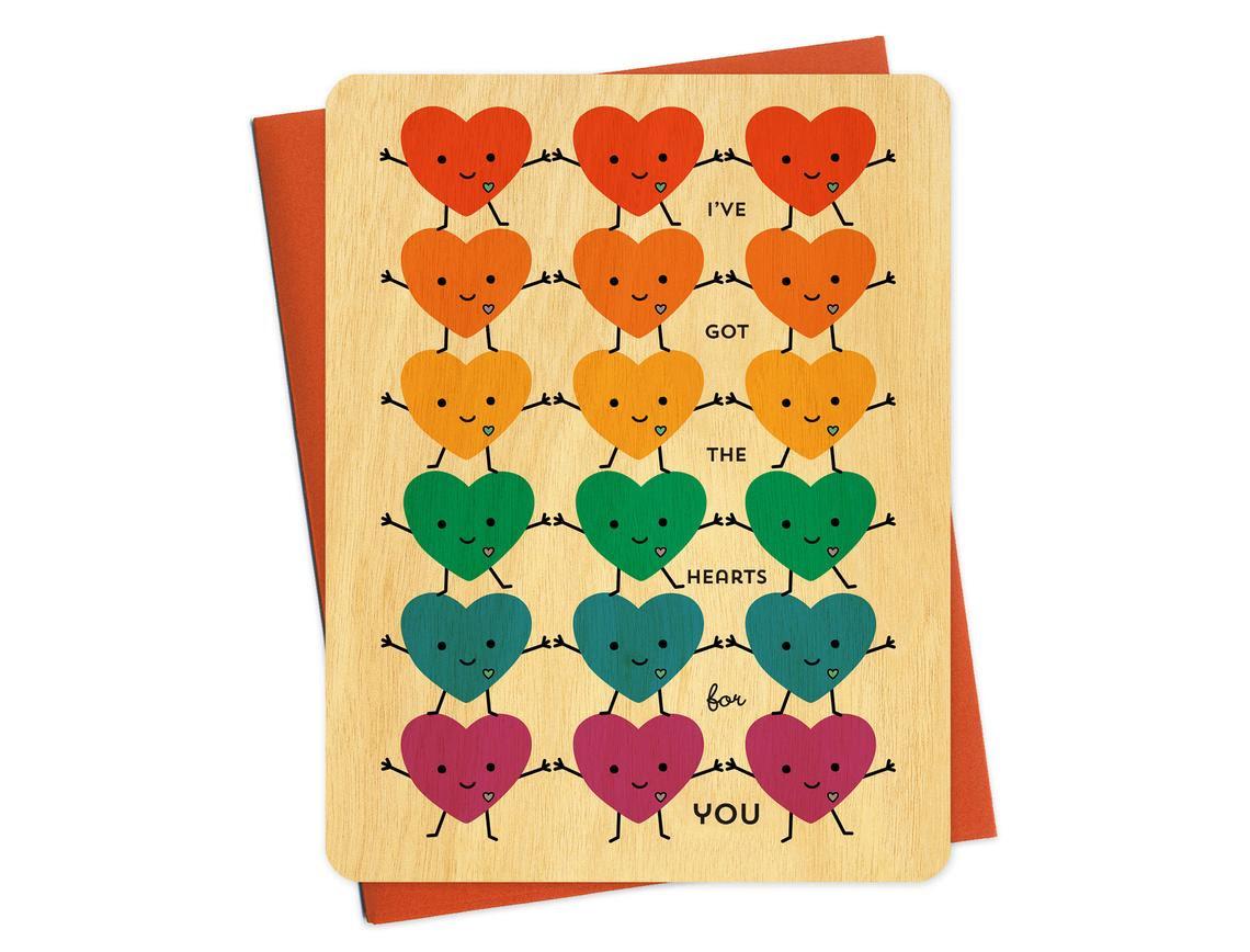 Wooden Love Card, $6 @nightowlpapergoods.com