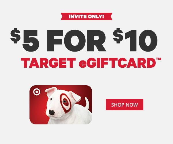 $5 for $10 Target eGiftCard
