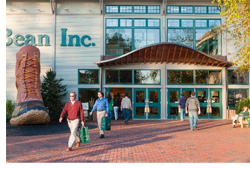 One-stop shopping at LL Bean in Maine