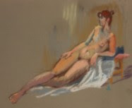 EDMA - 1996 Pastel, Reclining Nude
