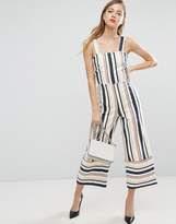 ASOS Pinny Jumpsuit in Stripe