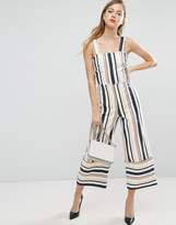 ASOS Pinny Jumpsuit in Stripe