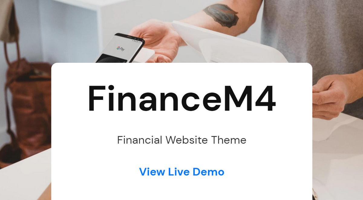 FinanceM4 Bootstrap Theme Live Demo