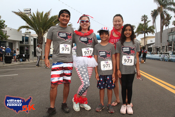 A family of runners from the July 3, 2021 5k.