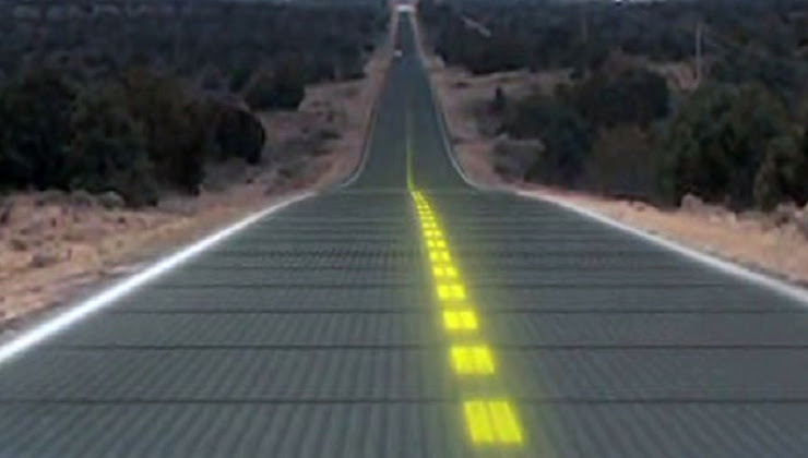 This Solar Road will provide Power to 5 Million People
