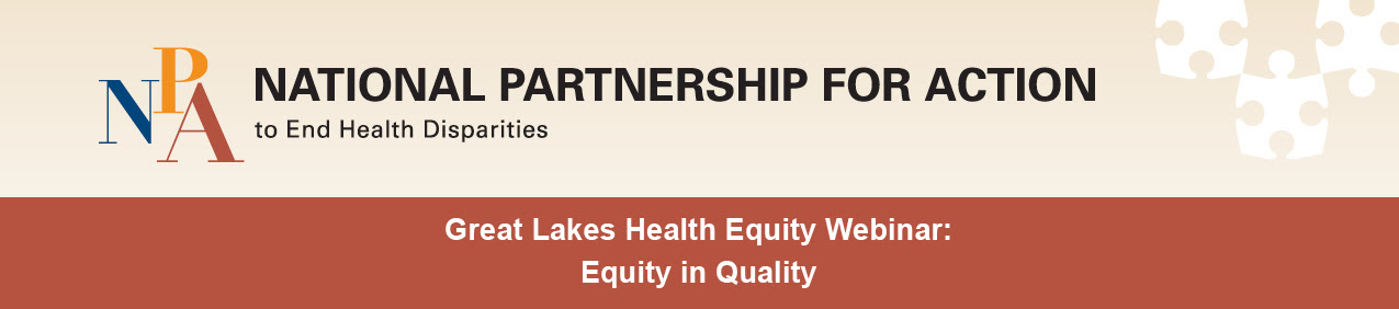 Great Lakes Health Equity Webinar header