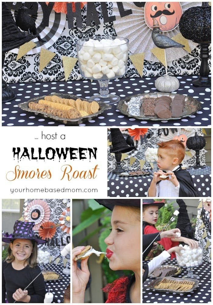 Halloween S'mores Roast - the perfect Halloween Party activity