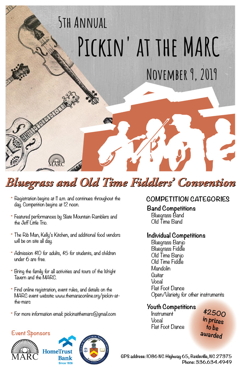 Pickin' at the MARC Fiddlers Convention @ MARC Museum | Reidsville | North Carolina | United States