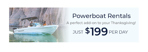 Powerboat Rentals - just $199 per day