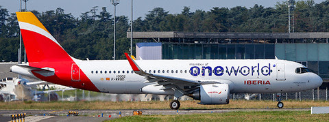 Airbus A320neo Iberia (One World) EC-NFZ | is due: October 2019