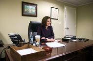 Senator Catherine Cortez Masto, Democrat of Nevada, in her office at the Dirksen Senate Office Building.