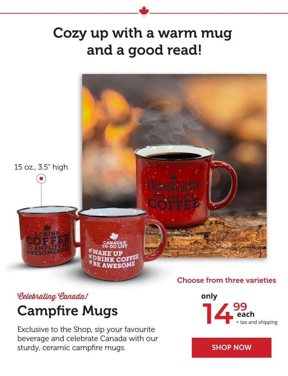 Cozy up with a campfire mug and a nice coffee!