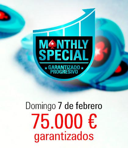 Monthly Special - El torneo que aumenta cada mes su garantizado en 25.000 €
