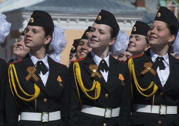Desfile militar en la Plaza Roja. Foto: Telesur.