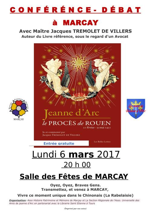 C O N F E R E N C E  Jeanne d'Arc à Marçay - Nouvelle Affiche-1