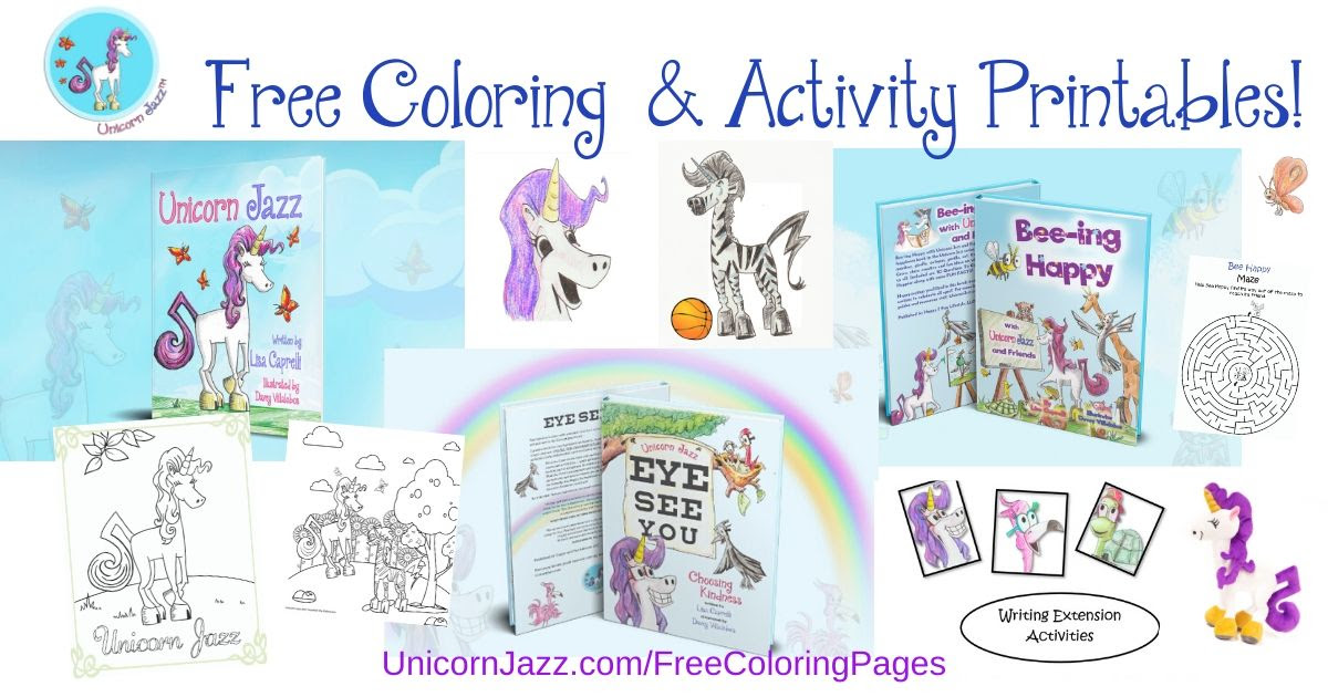 unicorn coloring page contest