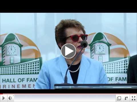 Billie Jean King's Hall of Fame Ring Ceremony