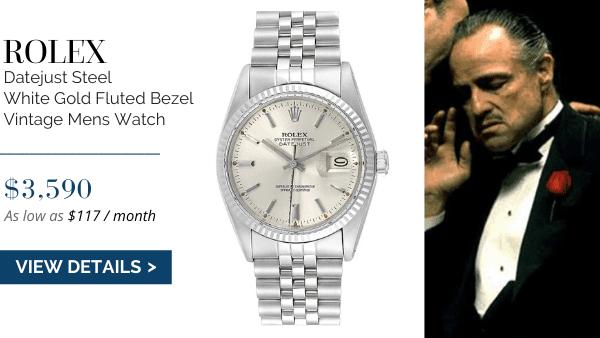 Datejust White Gold Fluted Bezel Vintage Watch