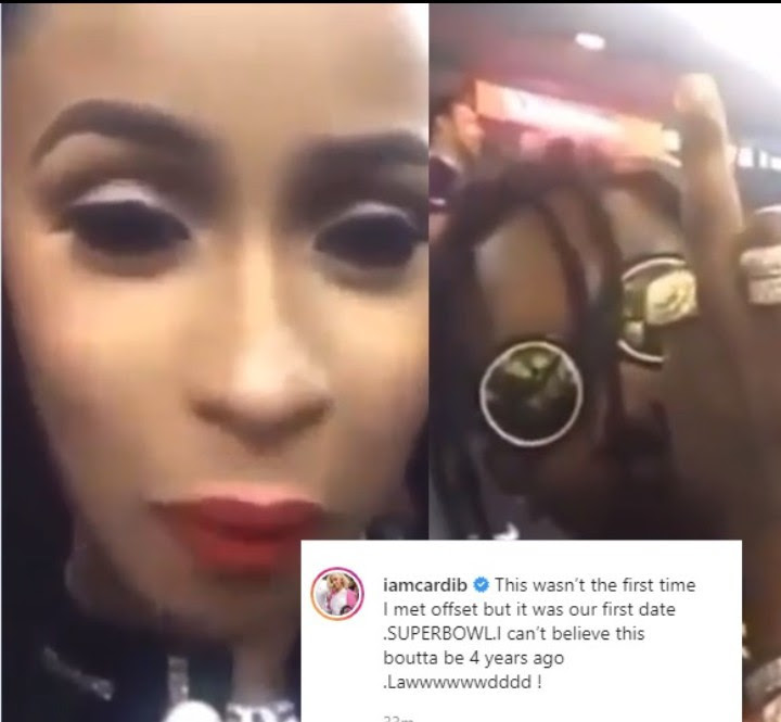 Cardi B Shares Footage From Her First Date With Offset 4 Years Ago